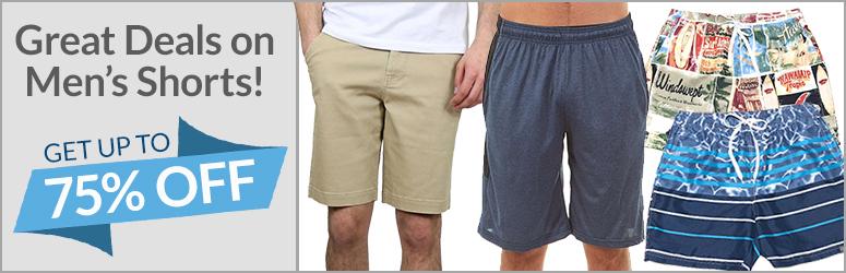Great Deals on Mens Shorts