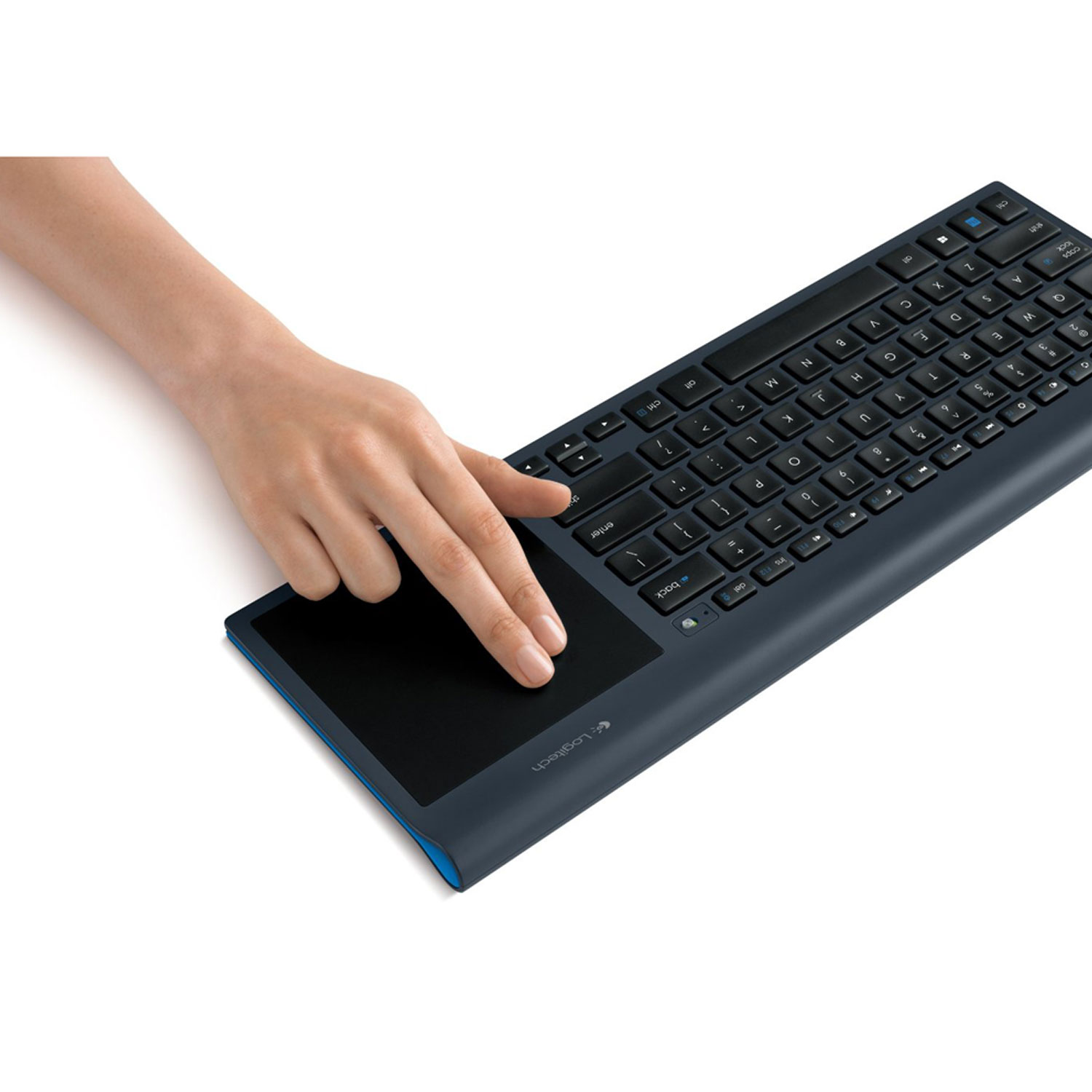 Logitech Wireless All-In-One Keyboard  with Built-In Touch pad - Refurbished