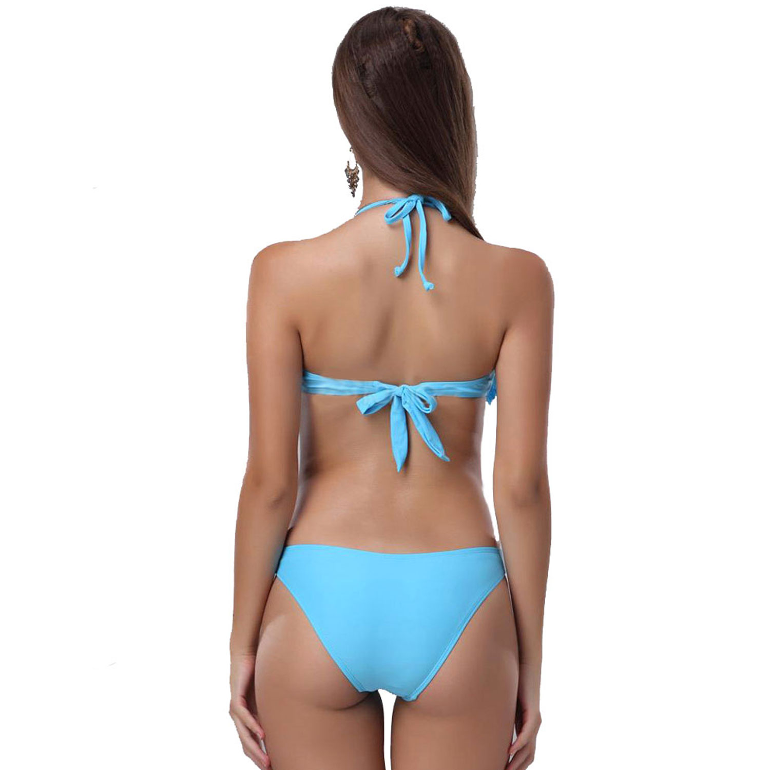 Wholesale cheap size -swimsuit costumi women sexy lace up bikini set push up fringe bikini beach swimwear women bathing suits from Chinese swim wear supplier - cocosly on rabbetedh.ga