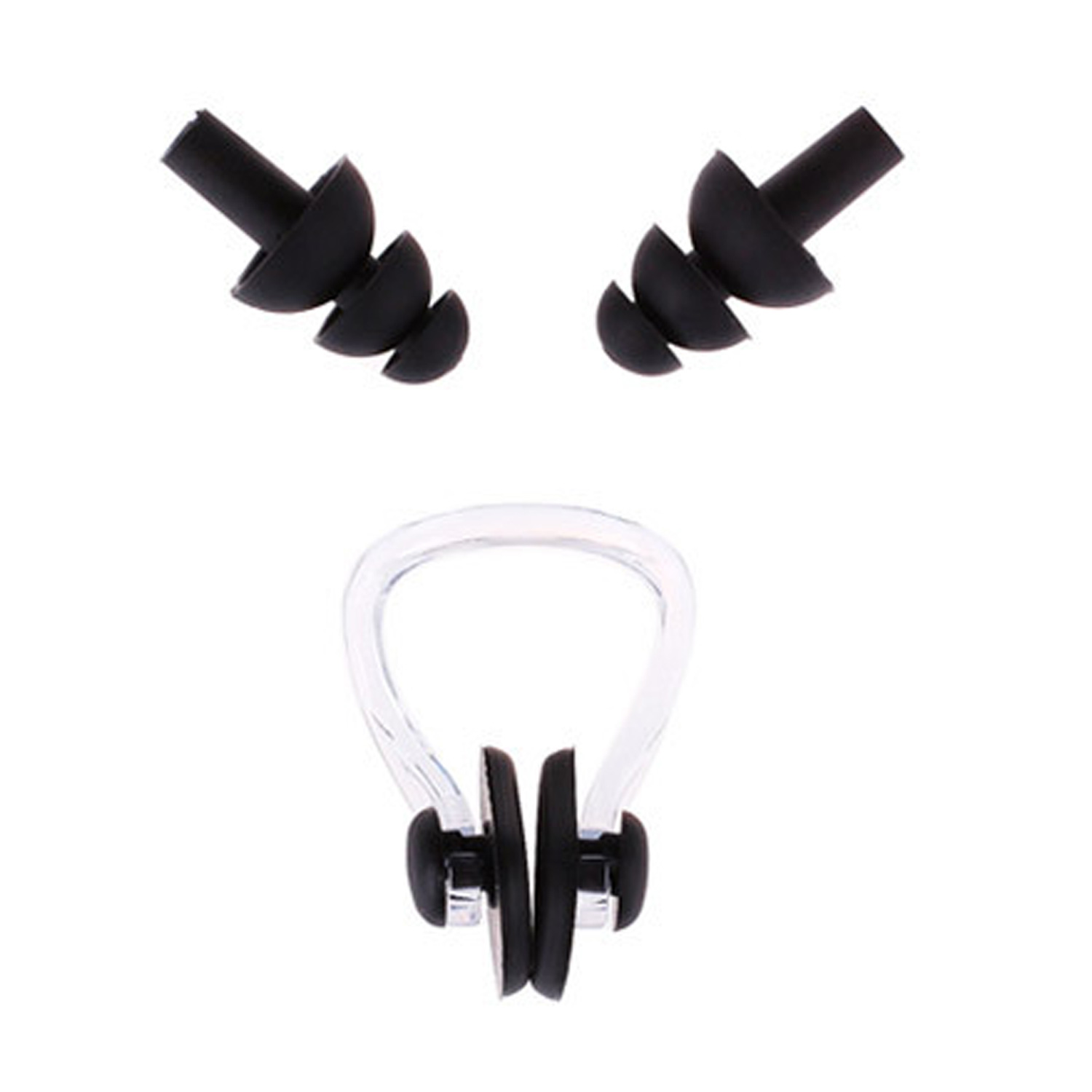 Swimming Earplugs and Nose clip (3- Pack)