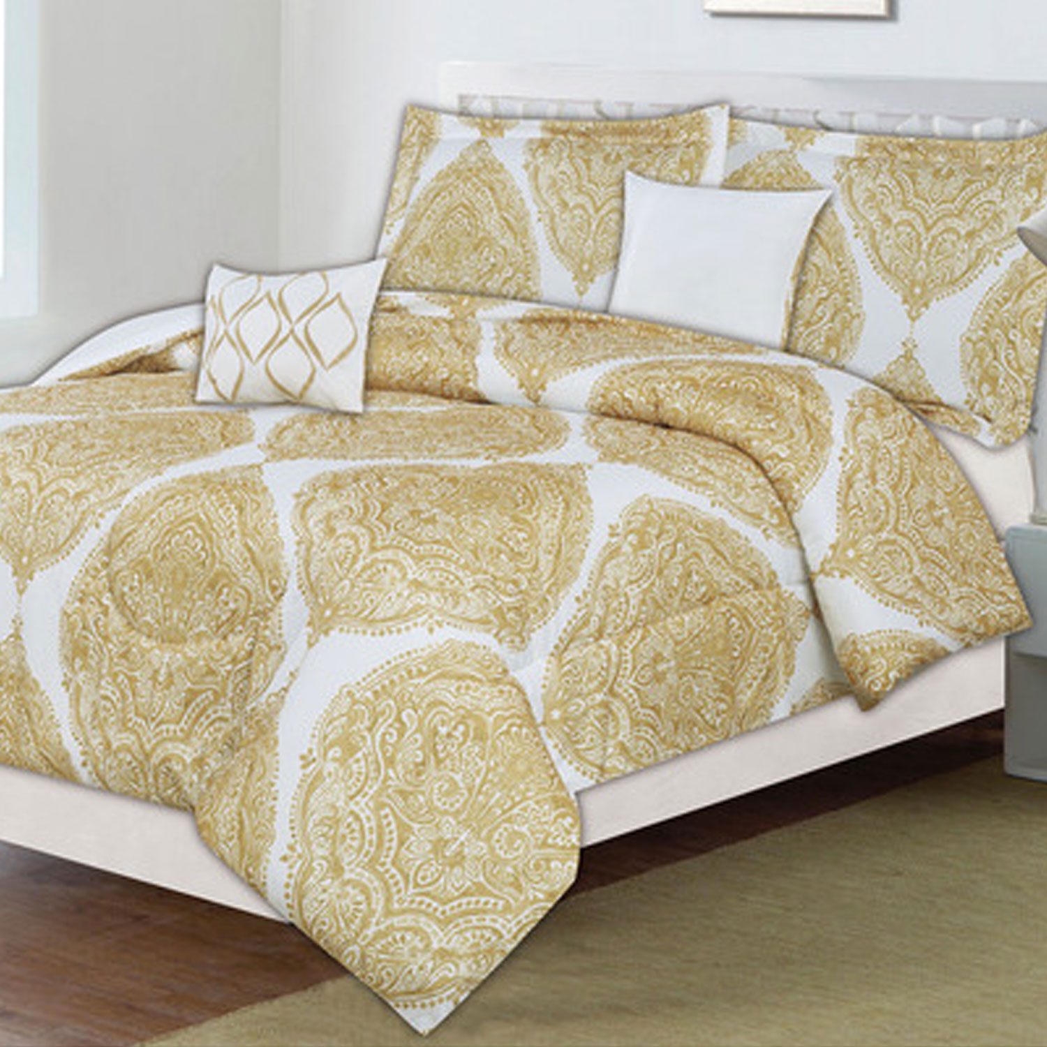 Classic Trends Comforter 5 - Piece Set - Golden Palace Yellow