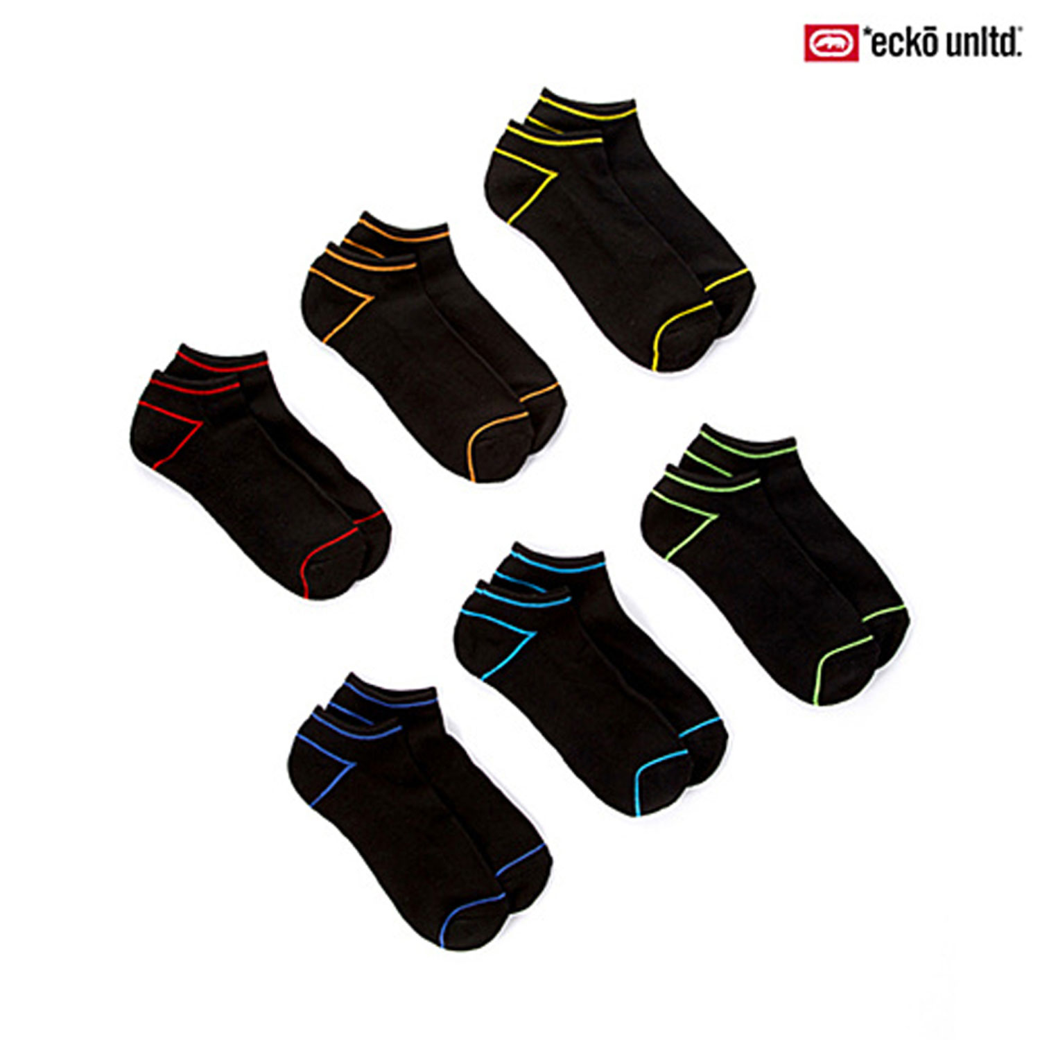 Ecko Unlimited No-Show Cushioned Sole Socks