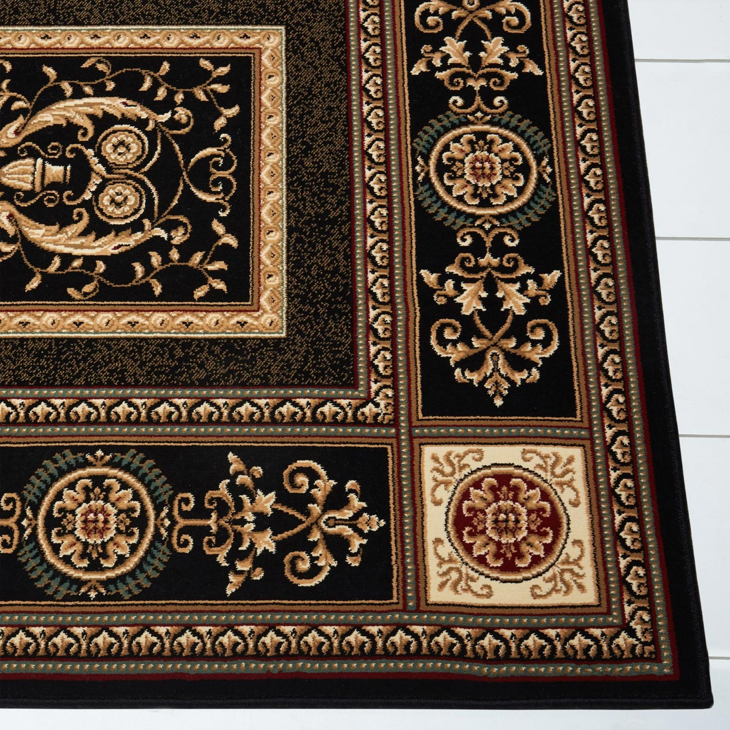 Regency Black Area Rug - 8307-450