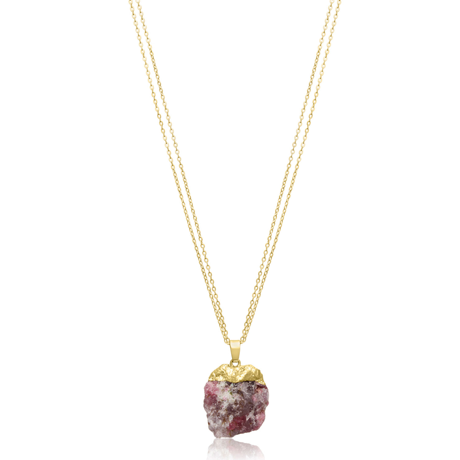 30 Carat Natural Multicolored Agate Necklace In 18 Karat Gold Overlay, 30 Inches