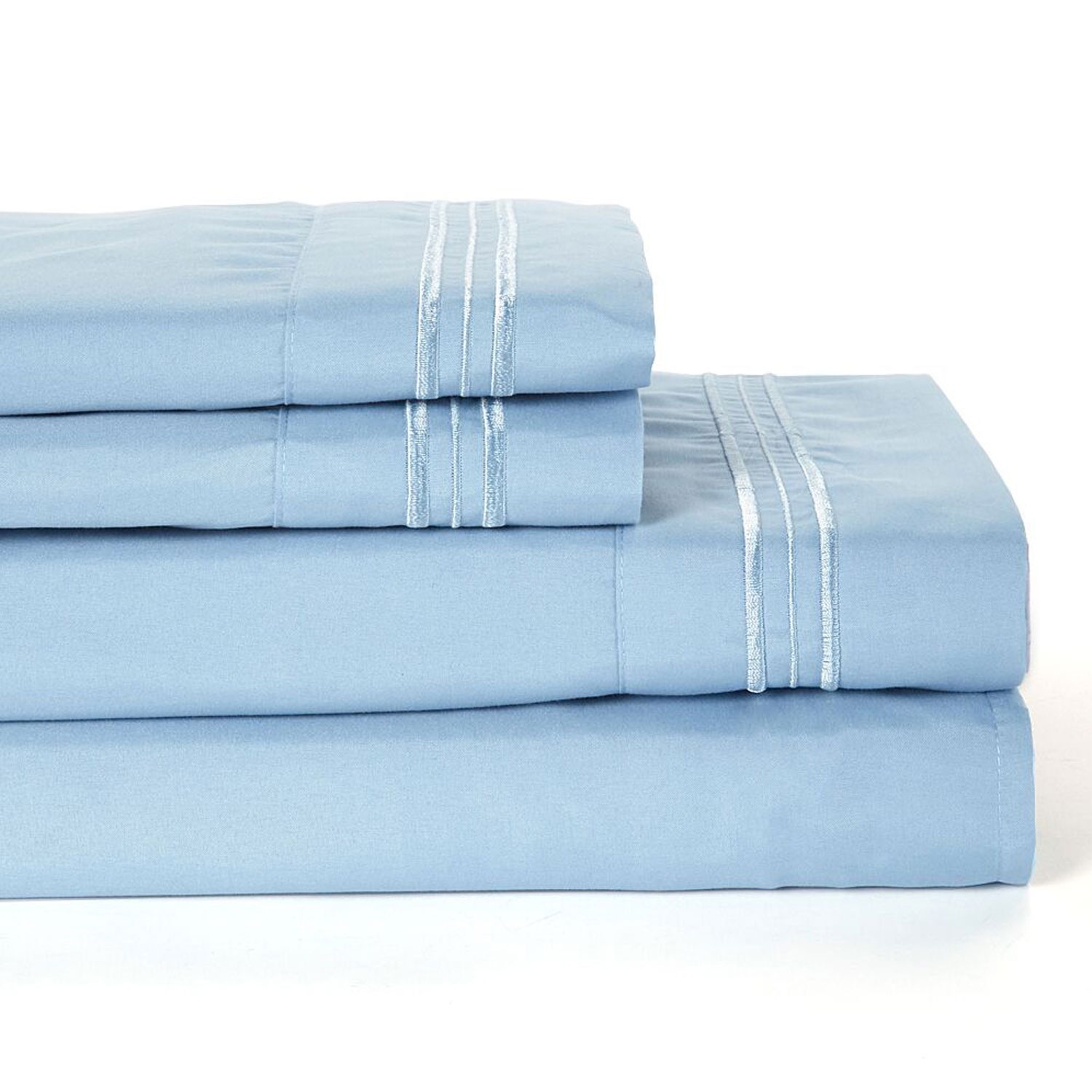 4 Piece: Home Collection Egyptian Deep Pocket Brushed 1800 Series Bed Sheet Set