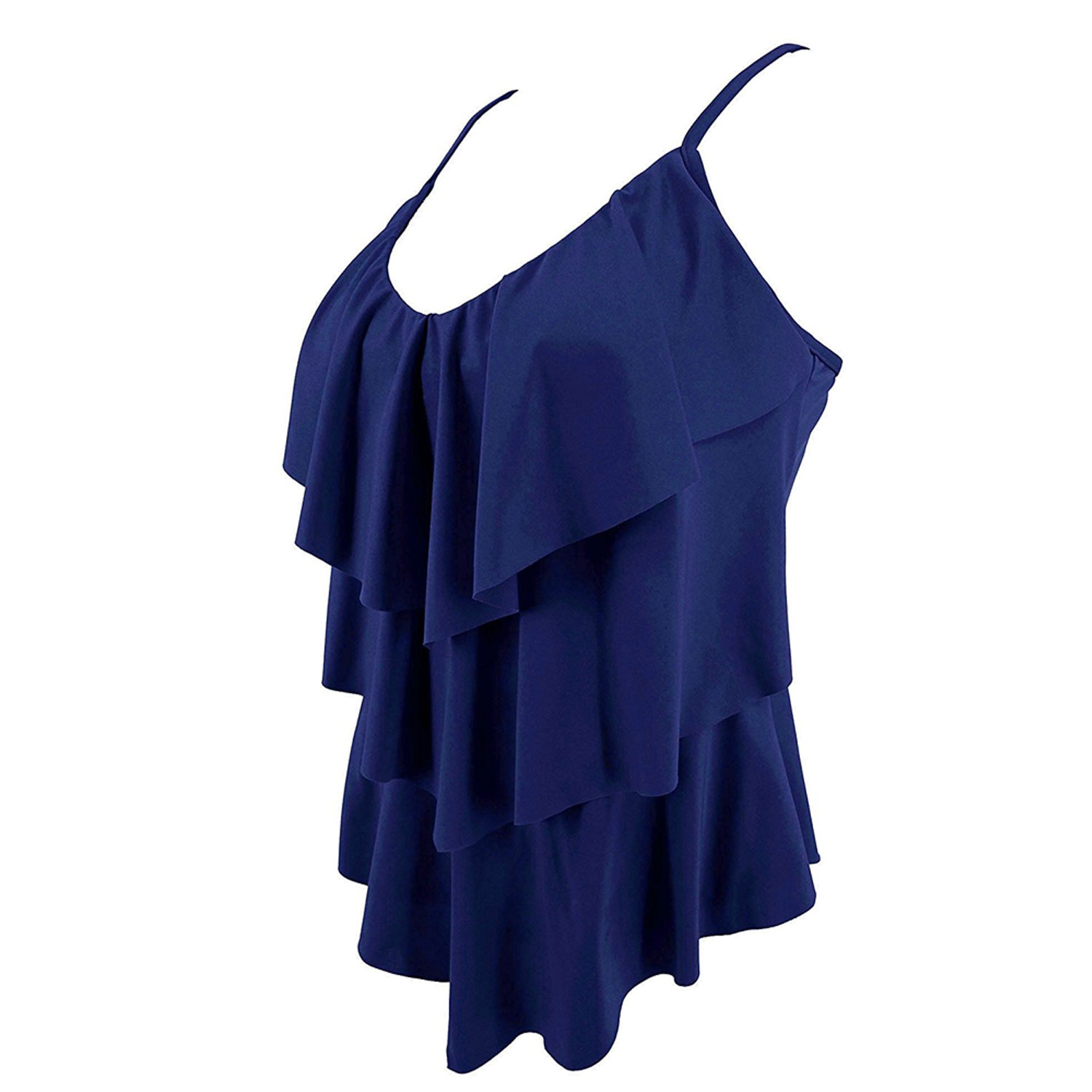 One-Piece Layered Swimsuit - Plus Size