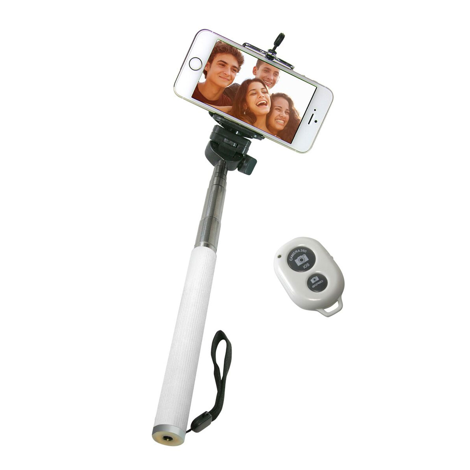 skusky icover bluetooth selfie stick w keychain shutter r. Black Bedroom Furniture Sets. Home Design Ideas