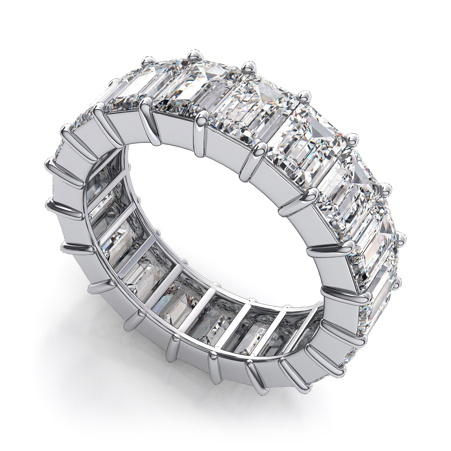 bands around cubic with band zirconia sterling eternity all