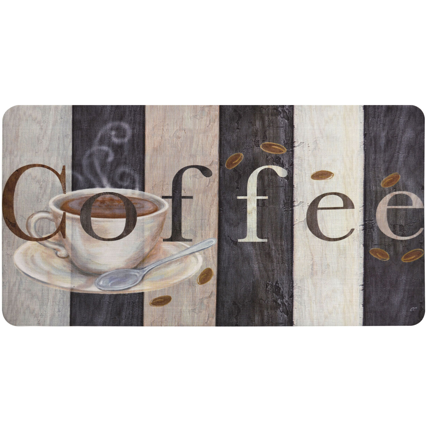 Home Dynamix Bakersfield Coffee Sign Kitchen Mat - BK04