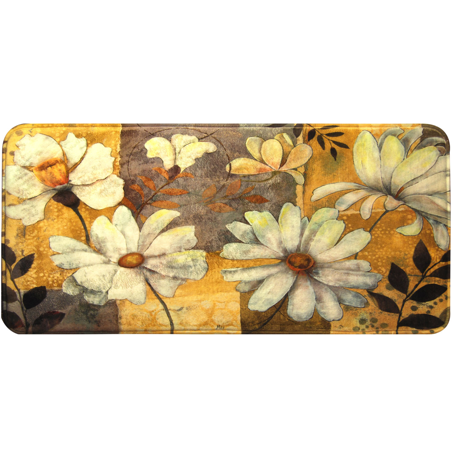 Home Dynamix Relaxed Chef Daisies Kitchen Mat - RC06