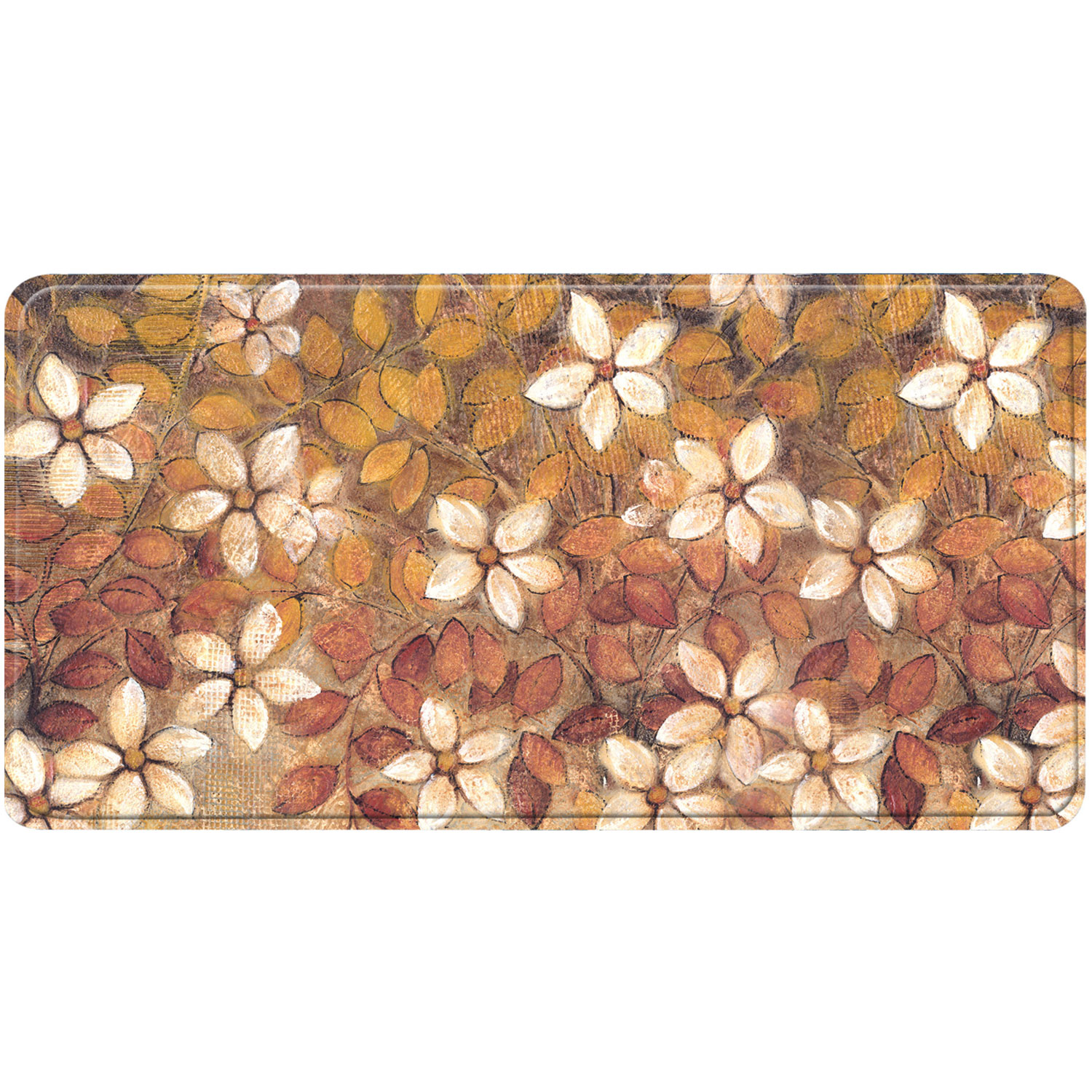 Home Dynamix Relaxed Chef White Trad Bloom Fest 1710 Kitchen Mat - RC22