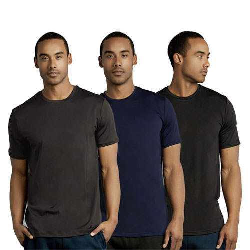 3 Pack Men's Athletic Round Neck T-shirt