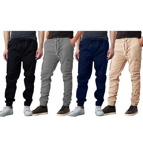 Men's Slim Fit Classic Cotton Stretch Cargo Jogger