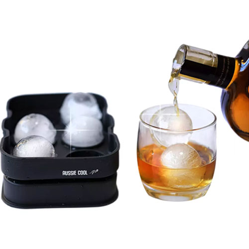 Ice Cube and Sphere Shape Tray Molds for Whiskey and Cocktails