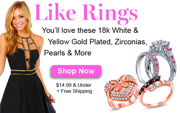 Event: Like Rings.We think you'll love these 18k White & Yellow Gold Plated, Zirconias, Pearls & Mor