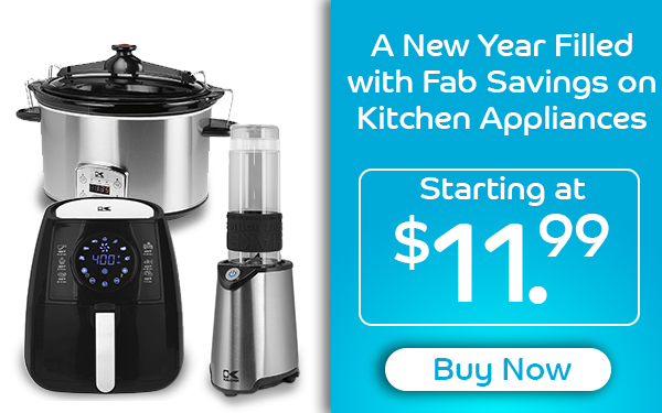 A New Year Filled with Fab Savings on Kitchen Appliances