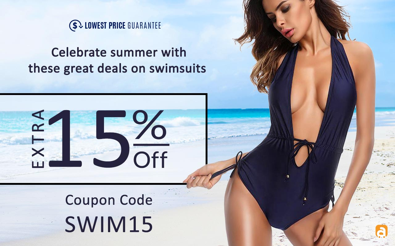 Celebrate summer with these great deals on swimsuits - Extra 15% off Coupon code - Swim15